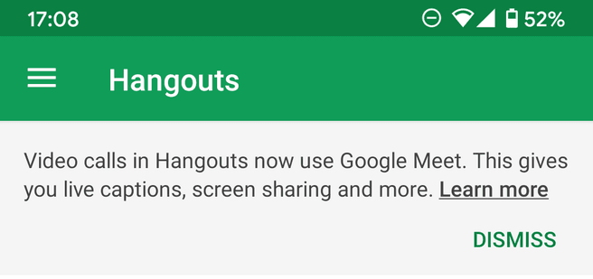 Hangouts Groepen