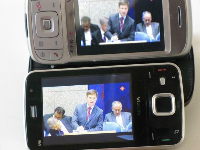 Mobiele televisie via dvb-h op Nokia N96 en via umts op HTC Tytn2