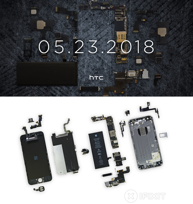 HTC-teaser en iFixit-teardown