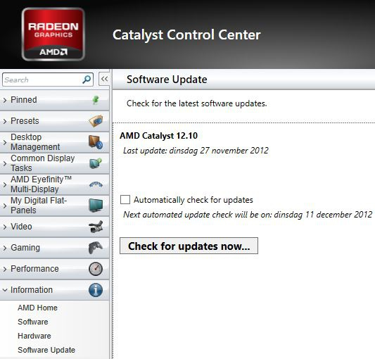 Catalyst auto-update