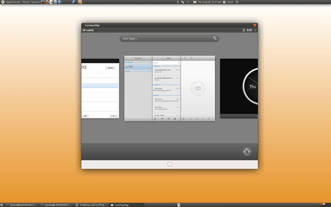 Open WebOS 1.0 bèta