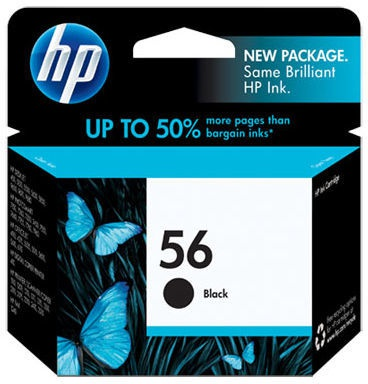 HP 56 zwarte inktcartridge (19 ml) (C6656A)