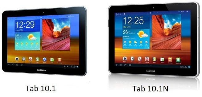 Samsung Galaxy Tab 10.1 vs Tab 10.1N