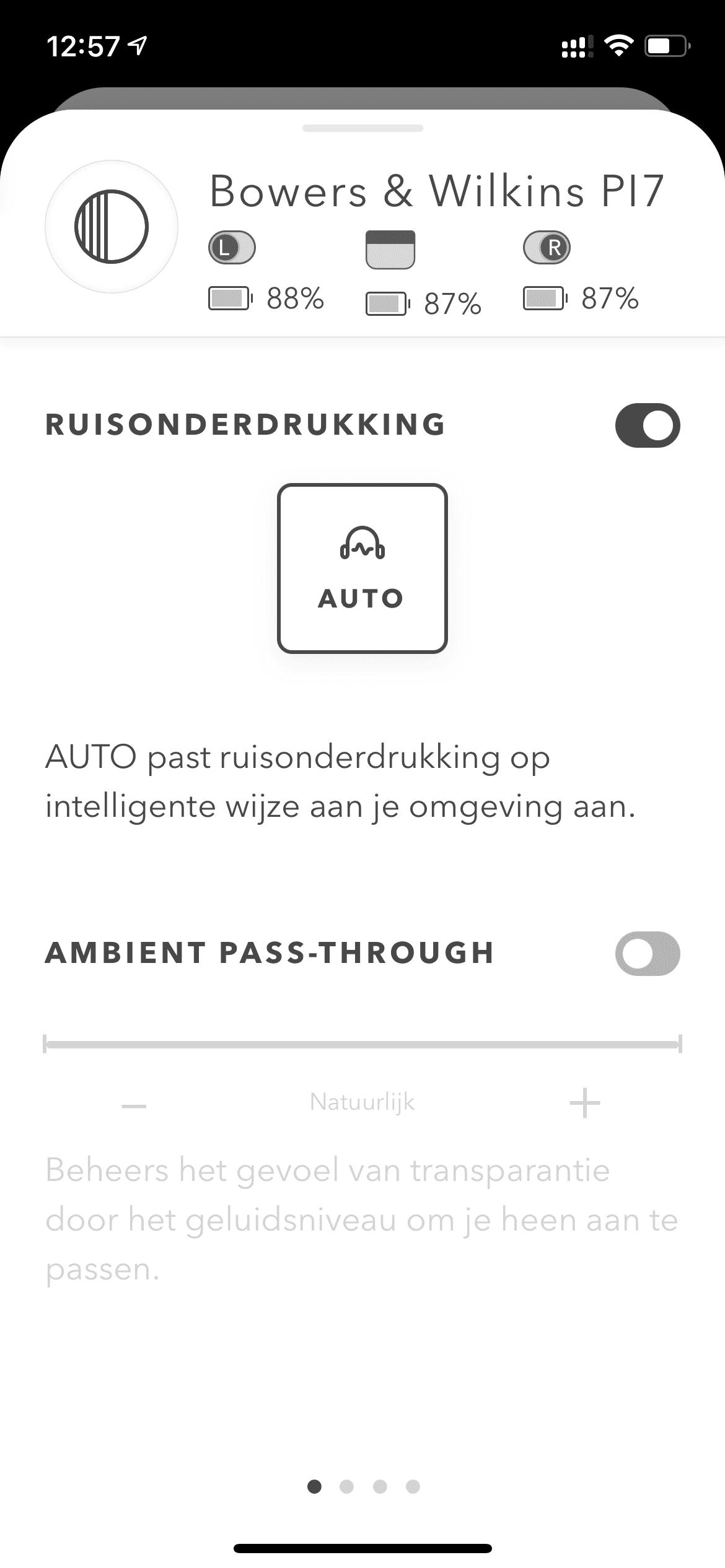App Ruisonderdrukking - Klik voor groot
