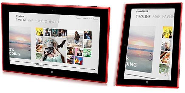 "Mockup 8"" Nokia-tablet met Windows RT"