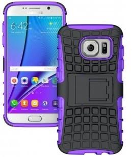 qMust Samsung Galaxy S7 Rugged Hybrid Case - Dual Protection - Purple