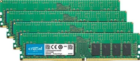 Crucial 64GB (4 x 16GB) DDR4-2666 RDIMM