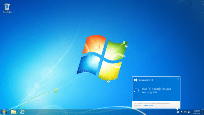 Windows 10 updatenotificatie