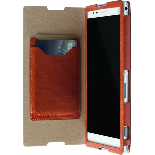 Krusell FlipCover Kiruna met stand Sony Xperia T2 Ultra (camel)