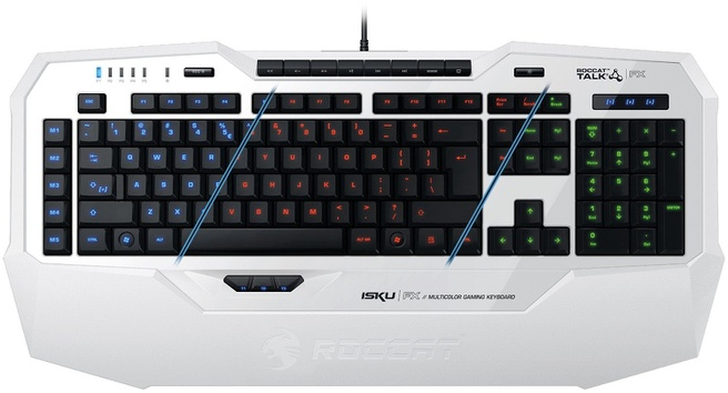 Roccat Isku FX White Multicolor Gaming Keyboard, US Layout