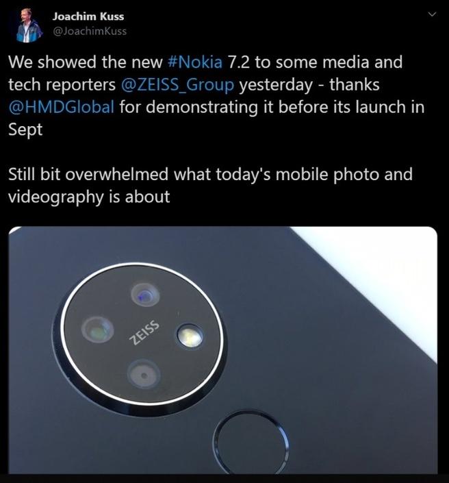 Nokia 7.2 Twitter
