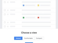 Redesign Gmail april 2018