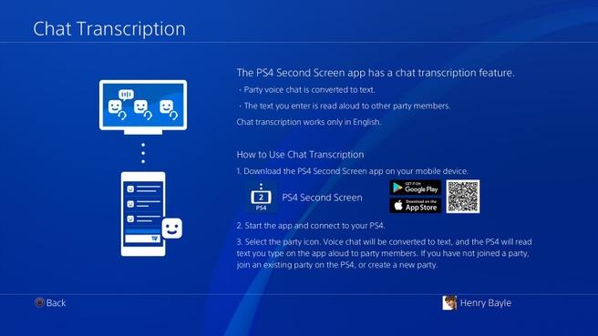 Sony werkt aan transcriptie functie voor PS4 Party