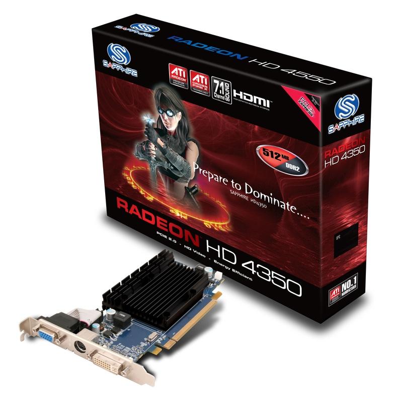 Sapphire HD 4350 512MB DDR2 PCI-E HDMI - Kenmerken - Tweakers