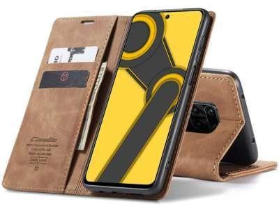 Caseme Xiaomi Redmi Note 9S / 9 Pro Retro Wallet Case - Bruin