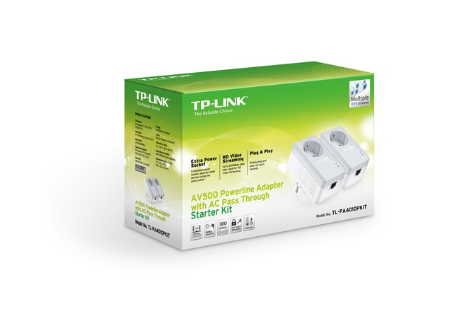 TP-Link AV500 Powerline adapter met geïntegreerd stopcontact Startset