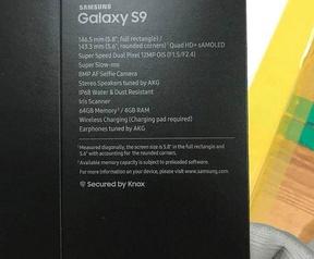 Galaxy S9 doosje gerucht