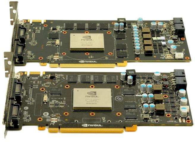 GTX 460 onder / GTX 560 boven