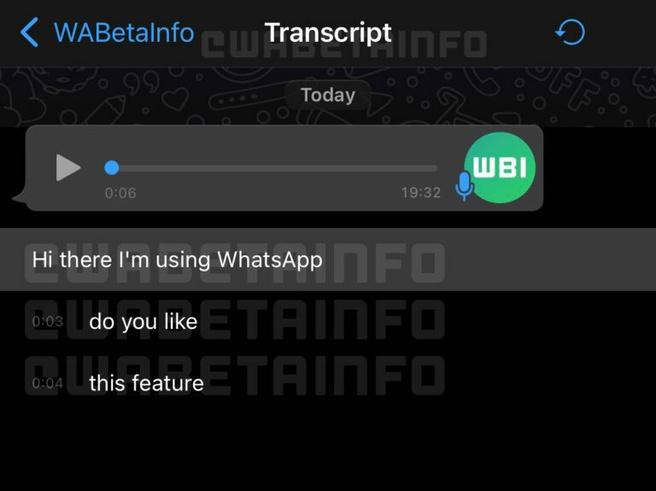 Transcribeersectie WhatsApp