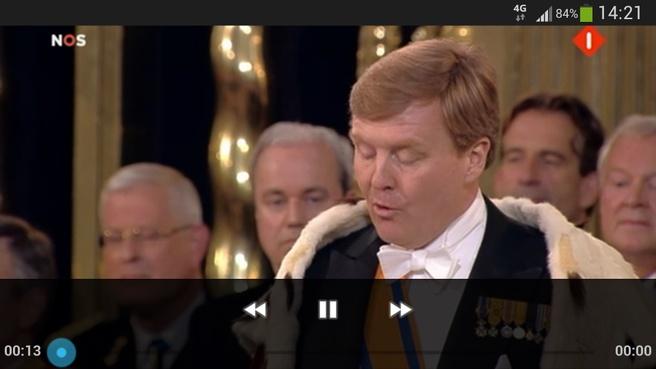Koning Willem-Alexander legt de eed af, stream over 4g