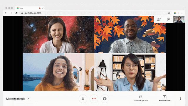 Google Meet virtuele achtergrond