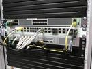 De nieuwe switches, firewall en de loadbalancer in het tweede rack