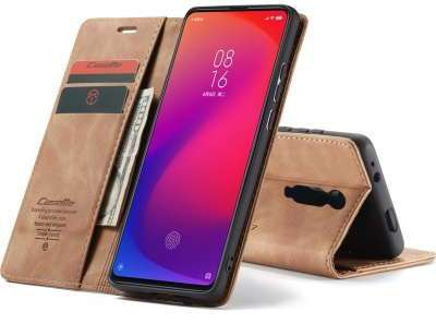 Caseme Xiaomi Redmi K20 Pro Retro Wallet Case - Bruin