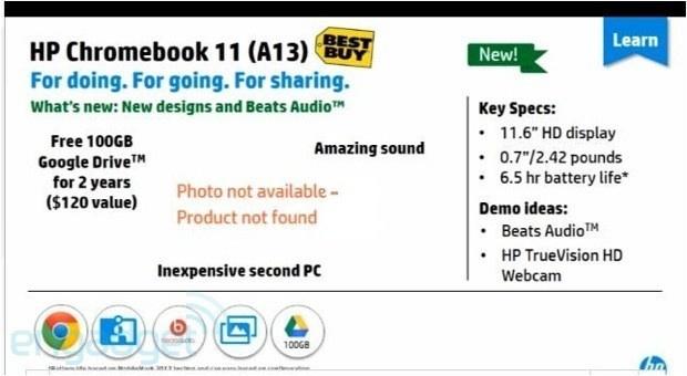 HP Chromebook 11 screenshot