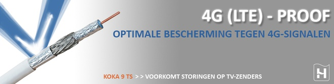 Hirschmann Coax kabel Koka 9 TS 20M 4G 3D (695020392)