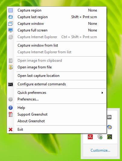 Software-update: Greenshot 1 2 6 7 - Computer - Downloads