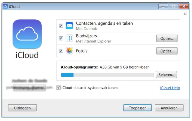 iCloud Control Panel 3.0