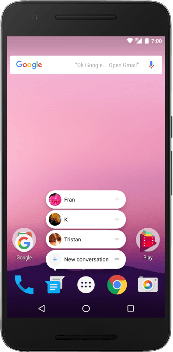 Android app-shortcuts