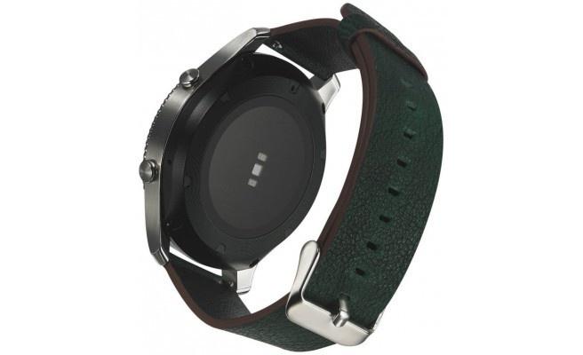 qMust Samsung Gear S3 Lederen Armband Donker Groen