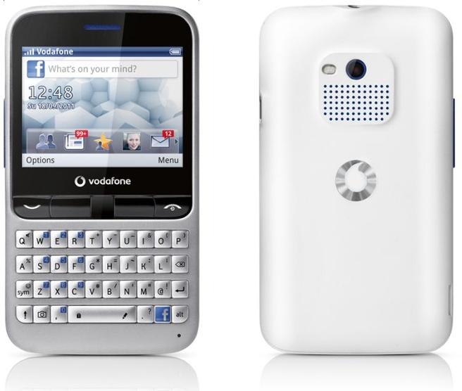 Vodafone 555 met Facebook-knop