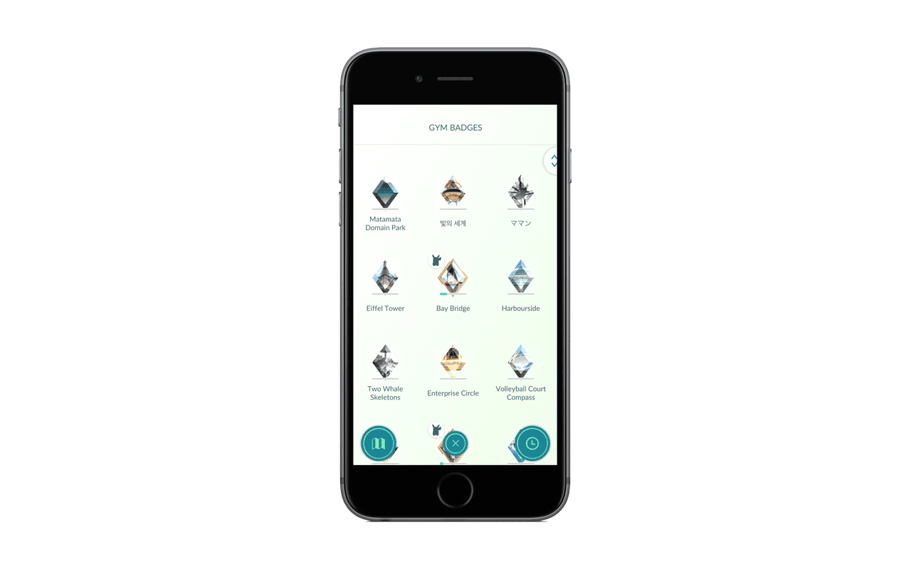 Nieuwe Gym-badges in Pokémon Go