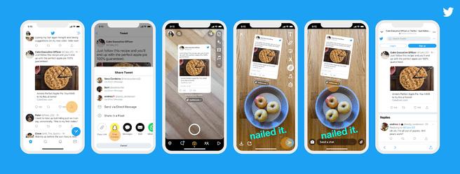Tweets op Snapchat, december 2020