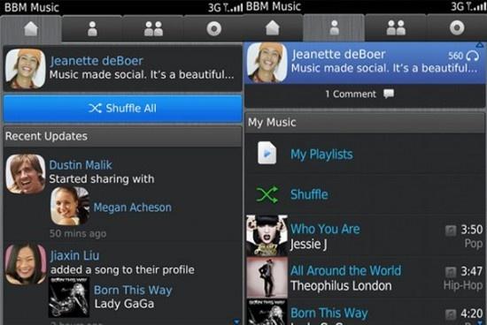 BBM Music, zoals de dienst nu in elk geval nog heet