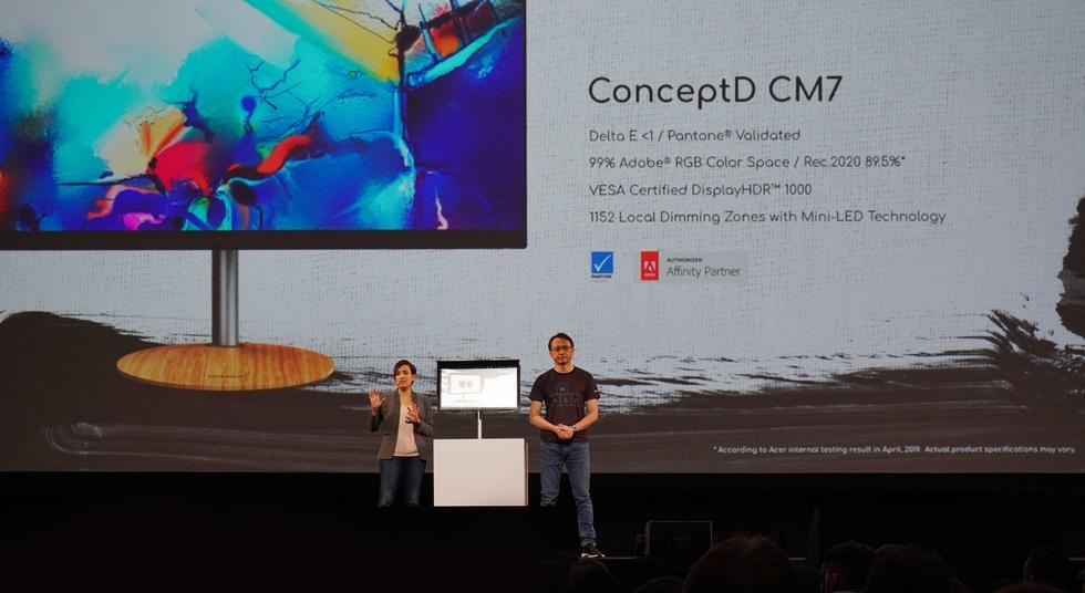 Acer ConceptD CM7-monitor met miniledbacklight
