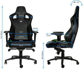 Noblechairs EPIC Gaming Chair, Zwart/Groen