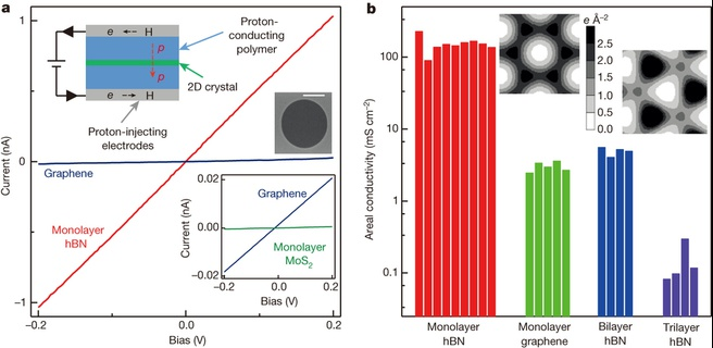 Proton transport through one-atom-thick crystals