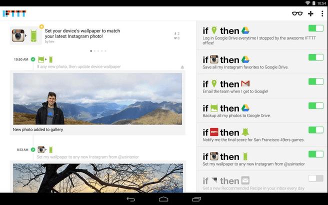IFTTT voor Android