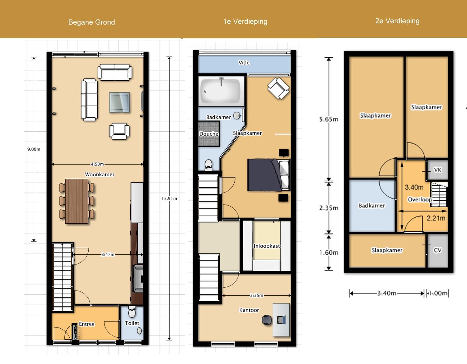 Huis Inrichten Plattegrond. Medium Size Of Modern Huis Zelf ...