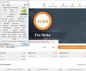 3DMark Fire Strike Performance - GTX 1060