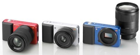 Sony large sensor interchaingeable lenses camerasysteem
