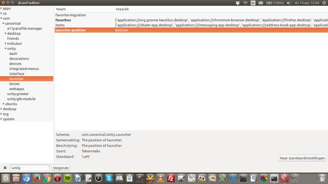 Ubuntu launcher unity beneden