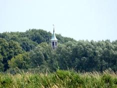 Kerktoren ingezoomd