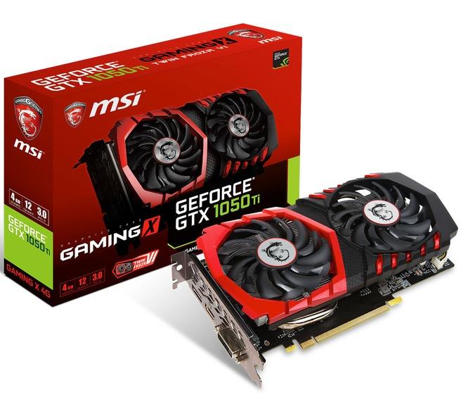 MSI GTX 1050 Ti Gaming
