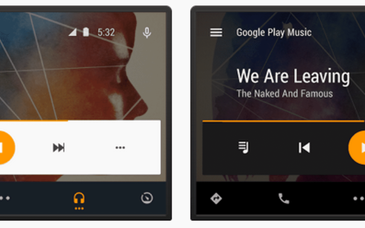 Android Auto interface