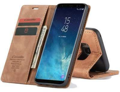 Caseme Samsung Galaxy S8 Plus Retro Wallet Case - Bruin