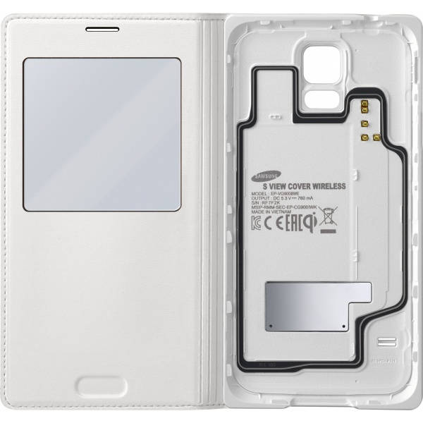 Samsung Wireless Charging S-View Cover Galaxy S5 (white) EP-VG900BW
